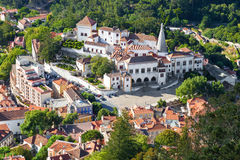 Aerial view of Sintra village, Portugal. Royalty Free Stock Photos