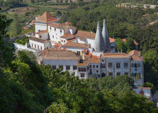 National palace of Sintra, top view Royalty Free Stock Photo