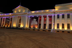 National Palace View at night with christmas lights from Managua Stock Images