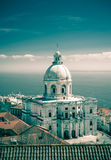 National Pantheon in Lisbon. Santa Engracia Church, or the National Pantheon, in Lisbon, toned image Stock Photography