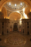 National Pantheon main vessel space in Lisbon Stock Photos