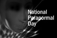 National Paranormal Day images. Paranormal activities images. Black and White dramatic mask stock images. Important day royalty free stock photography