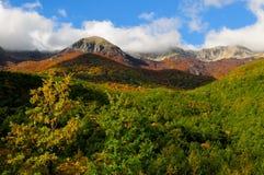 National park Abruzzo Lazio Molise. Autumn landscape in the national park Abruzzo Lazio Molise Italy stock photo