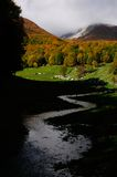 National park Abruzzo Lazio Molise. Autumn landscape in the national park Abruzzo Lazio Molise Italy stock image