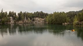 National Park of Adrspach-Teplice rocks. Czech Republic Stock Photos