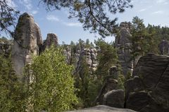 National Park of Adrspach-Teplice rocks. Rock Town Stock Photography
