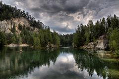 National Park of Adrspach-Teplice rocks. Rock Town Royalty Free Stock Images