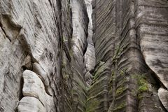 National Park of Adrspach-Teplice rocks. Rock Town Royalty Free Stock Photos