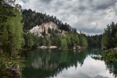 National Park of Adrspach-Teplice rocks. Rock Town Stock Images