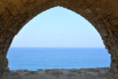 National park Apollonia, Israel Stock Images