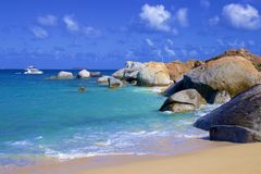 The Baths in Virgin Gorda, Caribbean. National park The Baths in Virgin Gorda , Caribbean stock image