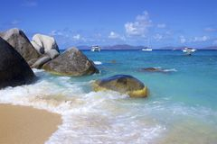 The Baths in Virgin Gorda, Caribbean. National park The Baths in Virgin Gorda , Caribbean stock photos