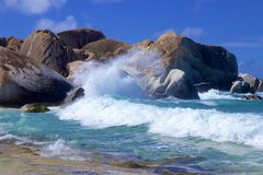 The Baths in Virgin Gorda, Caribbean. National park The Baths in Virgin Gorda , Caribbean stock images