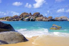 The Baths in Virgin Gorda, Caribbean. National park The Baths in Virgin Gorda , Caribbean royalty free stock photography