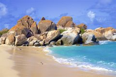 The Baths in Virgin Gorda, Caribbean. National park The Baths in Virgin Gorda , Caribbean royalty free stock photos
