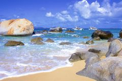 The Baths in Virgin Gorda, Caribbean. National park The Baths in Virgin Gorda , Caribbean stock photo