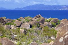 The Baths in Virgin Gorda, Caribbean. National park The Baths in Virgin Gorda , Caribbean stock photography