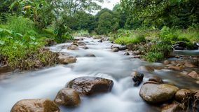 National Park,beautiful deep forest waterfall in Thailand. Royalty Free Stock Photos