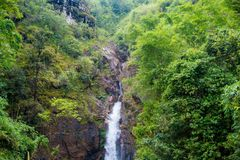 National Park,beautiful deep forest waterfall in Thailand. Chock Ka Din Waterfall. Royalty Free Stock Photography