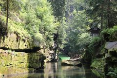 Bohemian Switzerland. National Park Bohemian Switzerland, Czech Republic stock photos