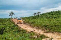 National park brazil serra da canastra. MG, Brazil, January 28, 2018: 4x4 expedition by nature royalty free stock photography