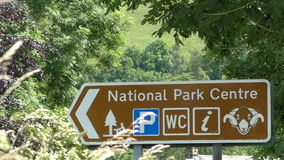 National park centre center sign stock video footage