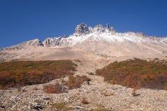 National park Cerro Castilloe. austral highway, chile, XI region of Aysen. Patagonia.  royalty free stock photography