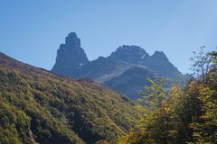 National park Cerro Castilloe. austral highway, chile, XI region of Aysen. Patagonia. N stock photos
