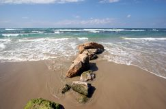 National park Cesarea in Israel Royalty Free Stock Image