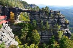National park Czech Switzerland view of landscape Royalty Free Stock Photo