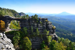 National park Czech Switzerland view of landscape Stock Images