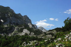 National park Durmitor in Monte Negro. Beautiful national park Durmitor in Monte Negro is full of high mountains and deep valleys Stock Photo