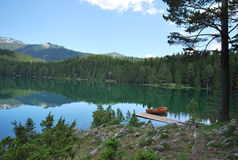 National park Durmitor. Montenegro. View of the Black lake Stock Photo