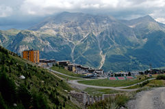 The national park of Ecrins. Orcieres Merlette resort (Alpes-France). The national park of Ecrins (100000 ha.) is home to chamois, ibex, marmots Royalty Free Stock Image