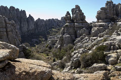 National Park, El Torcal de Antequera Royalty Free Stock Photo