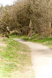 National Park footpath and cycle path Royalty Free Stock Photo