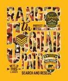 National park forest ranger patrol unit royalty free illustration