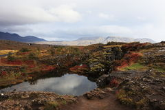 National park in iceland stock photo