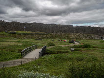 National park Iceland. Place where the oldest parliament was founded, Thingvellir Iceland Stock Images