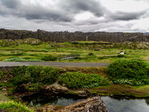 National park Iceland. Place where the oldest parliament was founded, Thingvellir Iceland Royalty Free Stock Photography