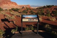 National park information Stock Images