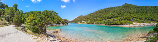 National park on island Mljet Royalty Free Stock Photo