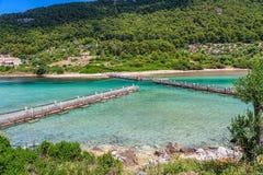 National park on island Mljet Royalty Free Stock Photography