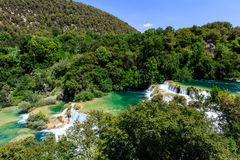 National Park Krka and Cascade of Waterfalls Stock Photography