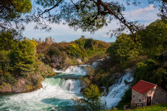 National park Krka, waterfalls, Croatia Royalty Free Stock Image