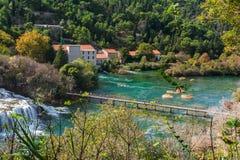 National park Krka, waterfalls, Croatia Royalty Free Stock Image