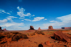 National park monument valley auth and arizona USA Royalty Free Stock Image