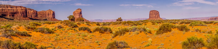 National Park Monument Valley. Panorama of the rocky desert at dawn Royalty Free Stock Image