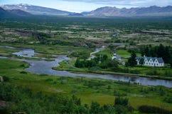 Thingvellir National Park - Þingvellir, Iceland August 2018 royalty free stock image