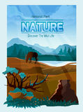 National park nature background banner Royalty Free Stock Image